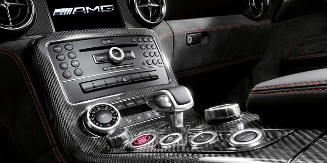 The AMG SPEEDSHIFT DCT 7-speed sports transmission.