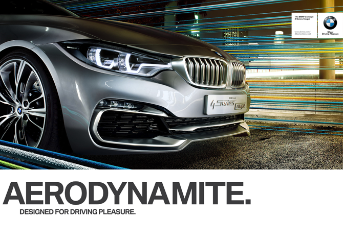 Designed For Driving Pleasure -BMW starts a all new advertising campaign centered around its aerodynamic design focus.