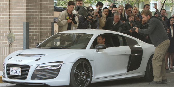 Audi R8 e-tron All-electric Sports Car Prototype in Iron Man 3