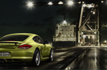Porsche Cayman R at Night