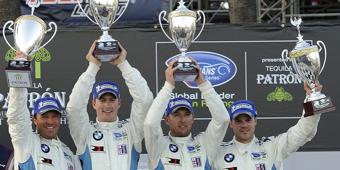 BMW Z4 GTE with the BMW Team Win 1 – 2 at Long Beach ALMS