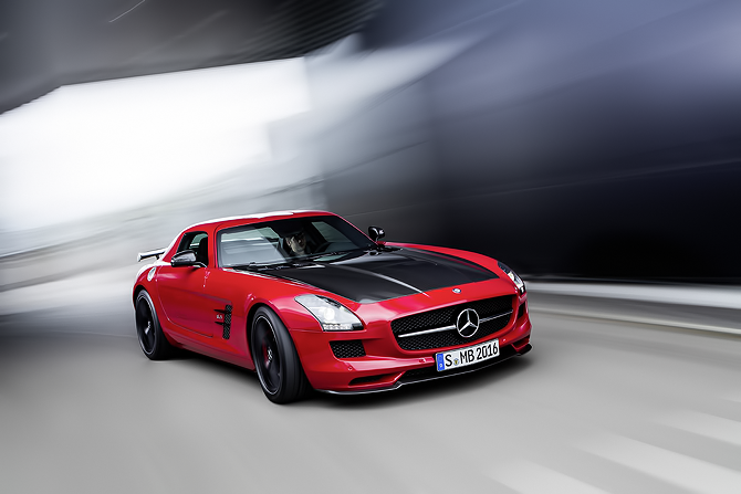 Mercedes-Benz SLS AMG GT as seen in Red