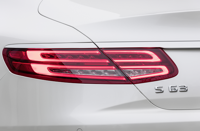 S63 AMG Coupe Rear View